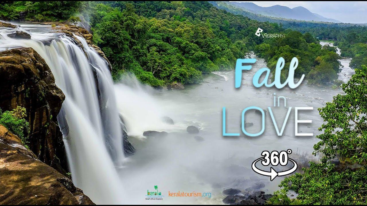 Kerala Tourism 360 VR   Fall in Love   Kerala waterfalls 360 video
